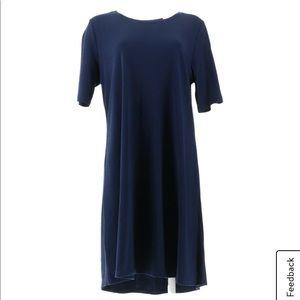 Isaac Mizrahi Live Pima cotton elbow sleeve dress